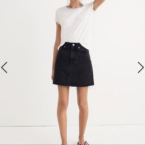 Madewell | Denim Frisco Mini Skirt in Lunar Wash